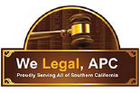 WE LEGAL, APC logo