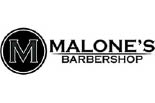 Malone's Barber Shop logo