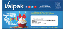 Online Sweepstakes for $5,000 Valpak Birthday Prize