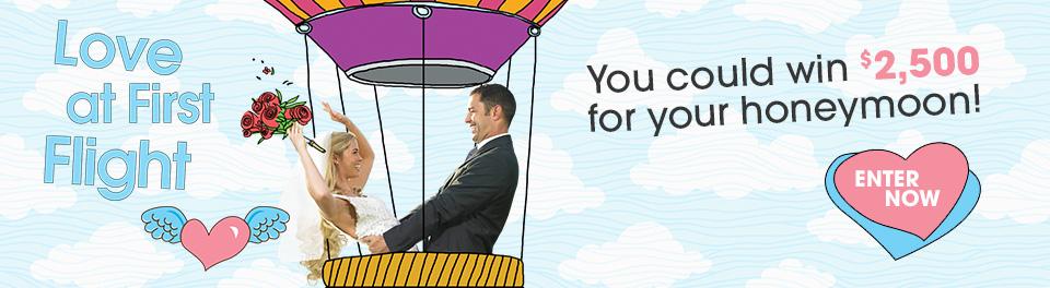$2500 for your honeymoon fund - 2016 honeymoon sweepstakes