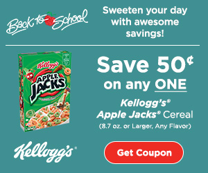 Kellogg's Apple Jacks Cereal coupon