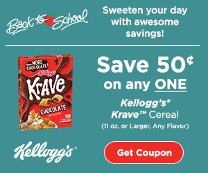 Kellogg's Krave Cereal coupon