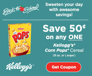 Kellogg's Corn Pops Cereal coupon