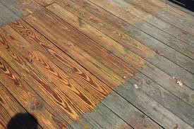 Wood deck cleaning before and after