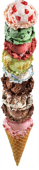 Stack up your waffle cone - this one has 9 enticing ice cream flavors
