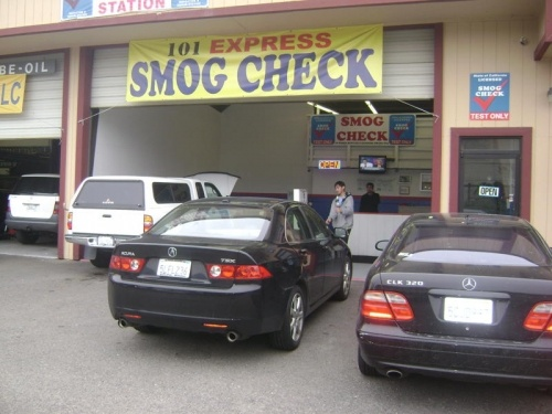 101 Express Smog in Petaluma image of building exterior with cars