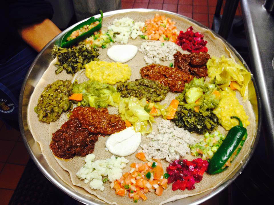 ethiopian, lunch, dinner, kids menu, venue space; silver spring, md