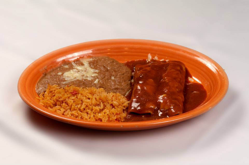 Mexican Restaurant, Mexican Food, Mexican Cuisine, Enchiladas, Rice, Beans,