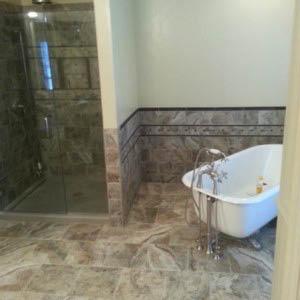 New granite bathroom tiles