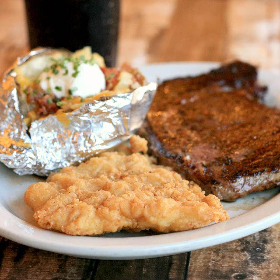 Steak, Chicken, Seafood, Sandwiches, Burgers, Soups, Salads, Kids Menu, Desserts.