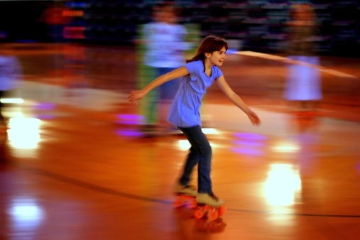 group skating; competitive roller skating; music; kids activities