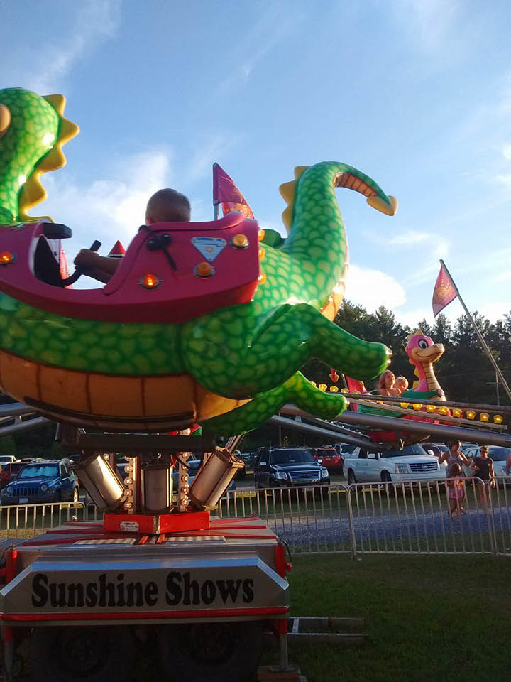 rides, games, contests, tractors, cotton candy, food, carnival