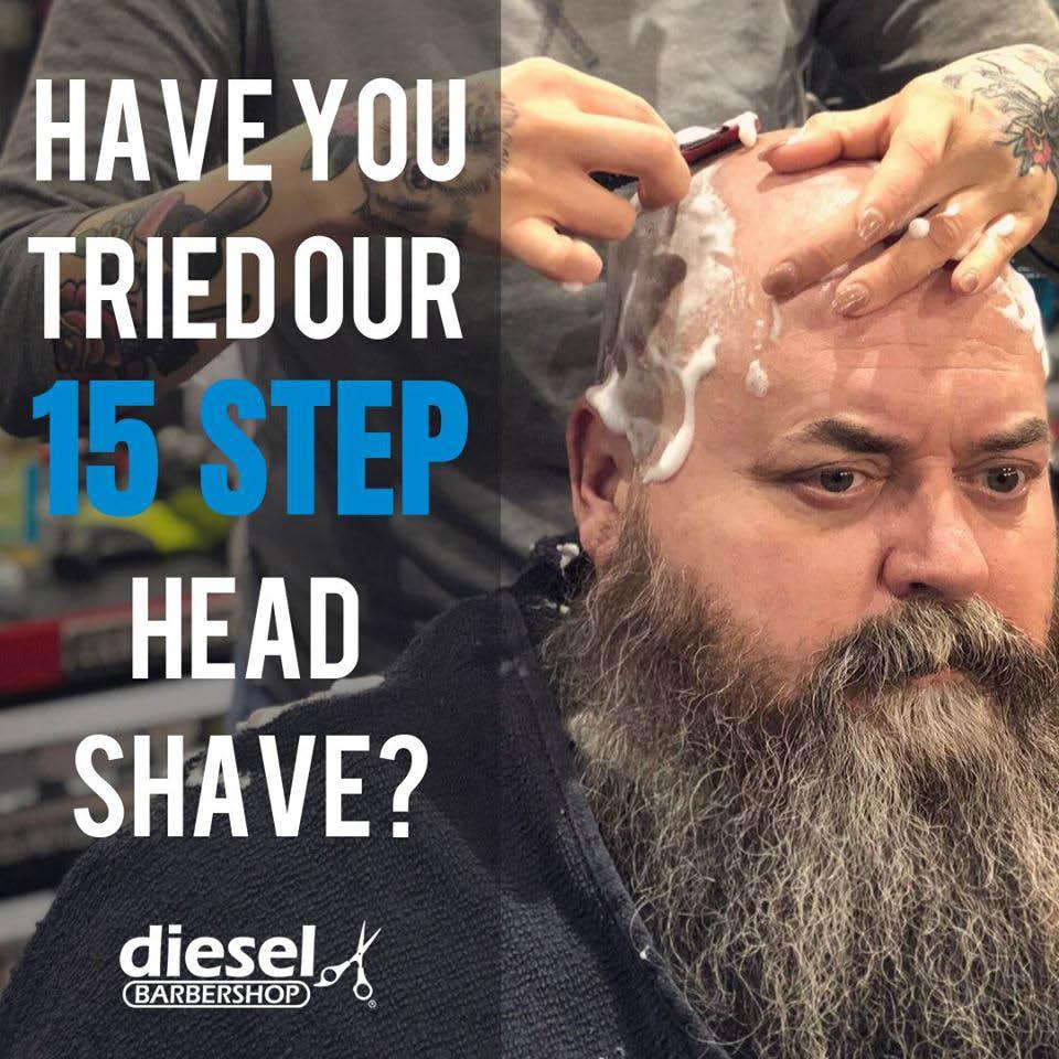 Diesel Barbershop Oak Creek 15 Step Head Shave