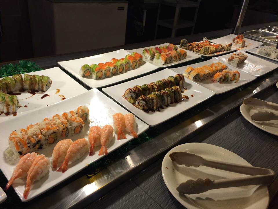 Saga sushi buffet hibachi in chambersburg pa local for Fish buffet near me