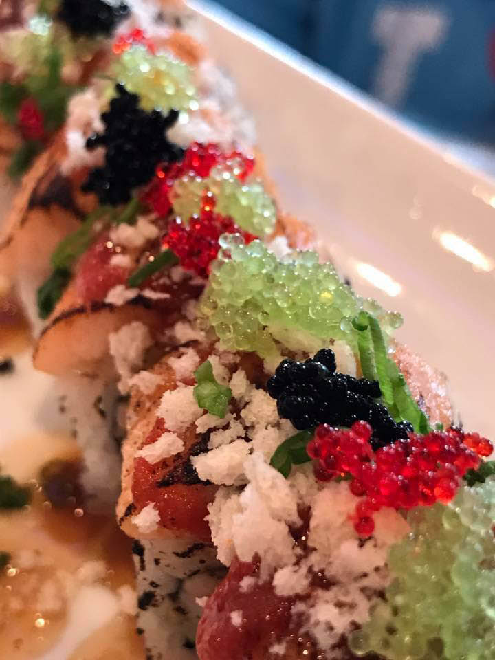 Stunning presentations of our sushi rolls at Hutong Sushi & Grill