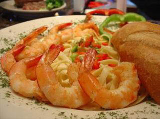 Succulent and fresh shrimp from Peppers Steak & Seafood