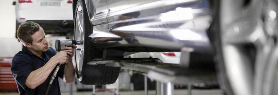 Tire rotation and wheel alignment services banner