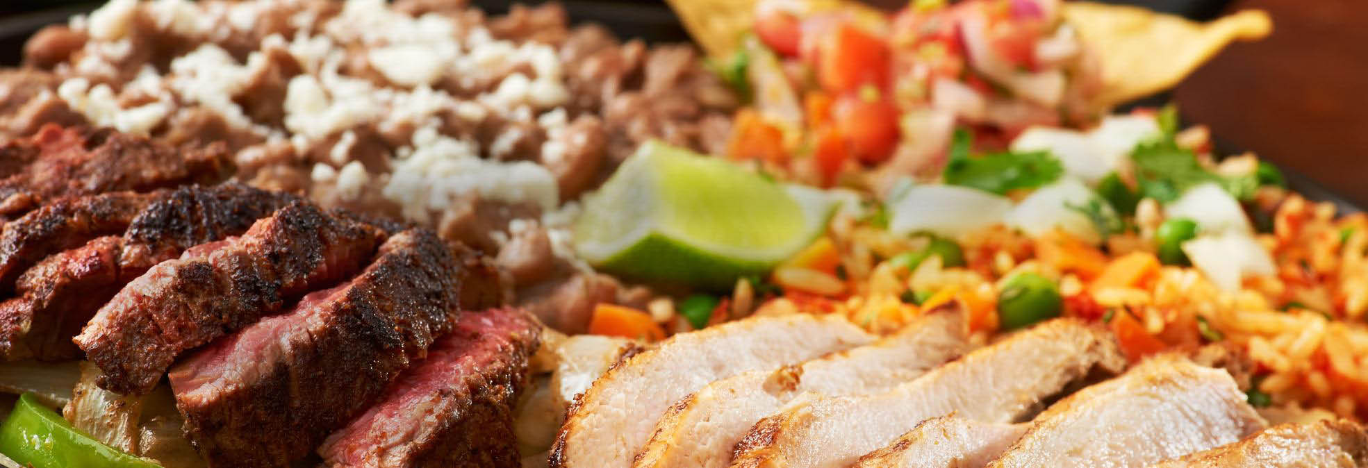 Delicious Mexican food combination meals at La Hacienda banner