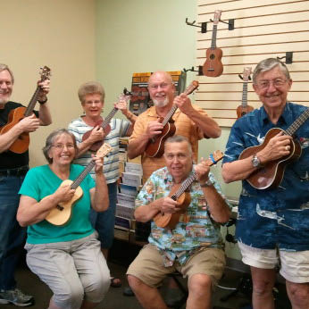 group learning to play the Ukulele at Galina's Music Studio Livermore, CA