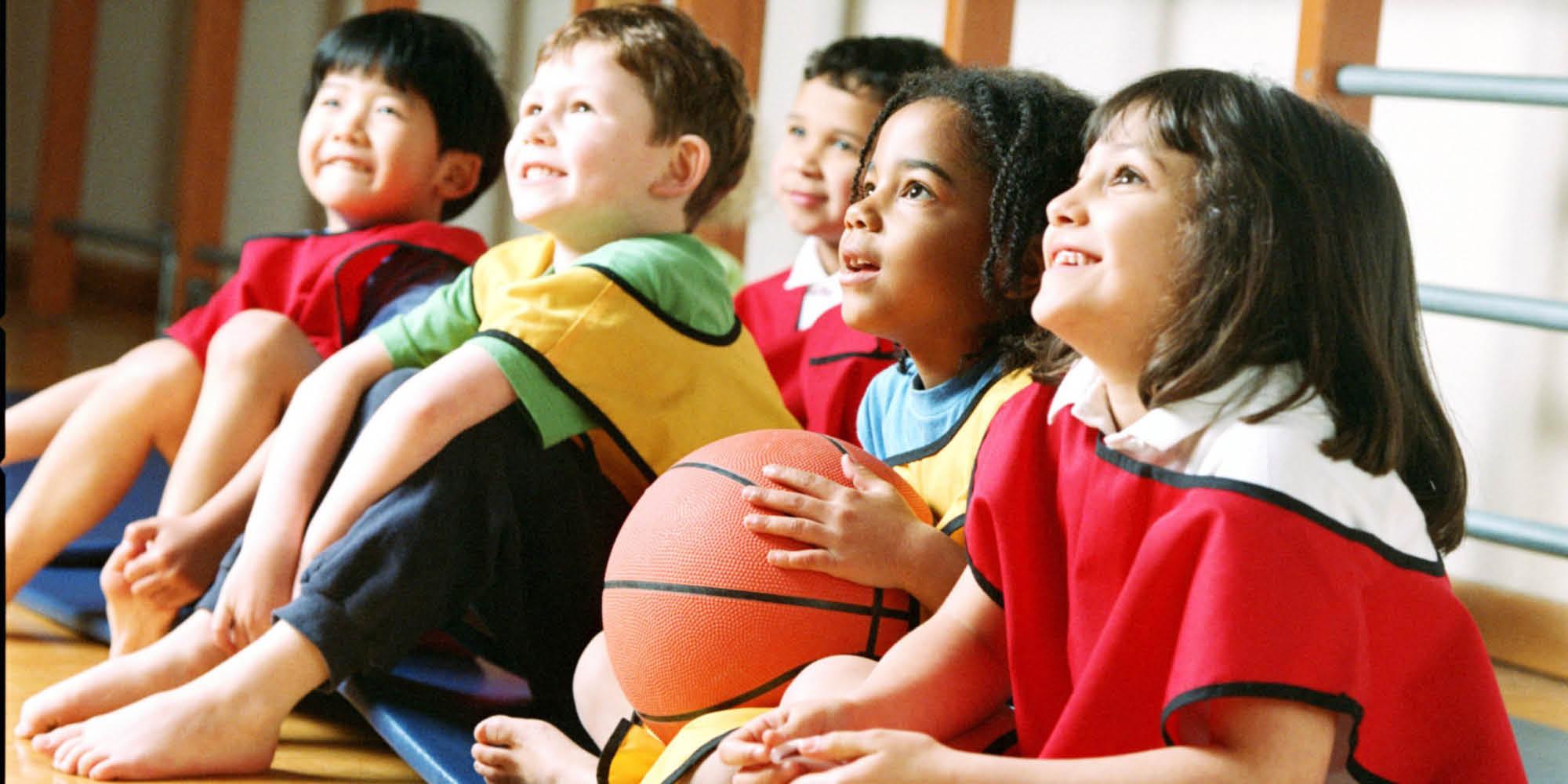 Basketball games at day camp