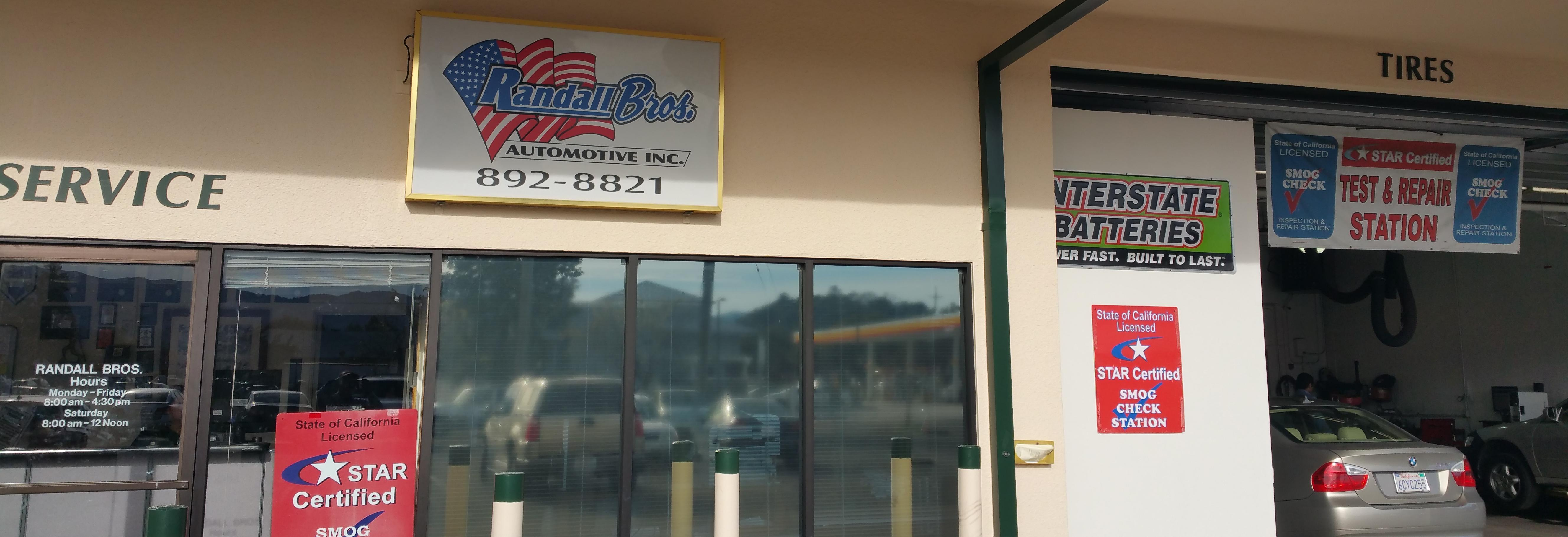 Randall Brothers Automotive in Novato, CA banner