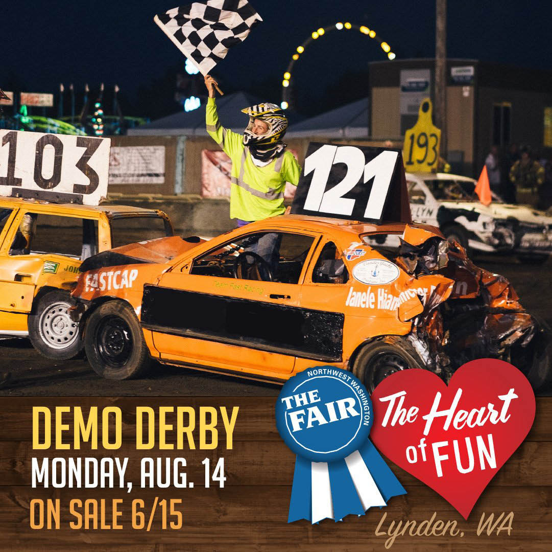 NW Washington Fair 2017 in Lynden demo derby
