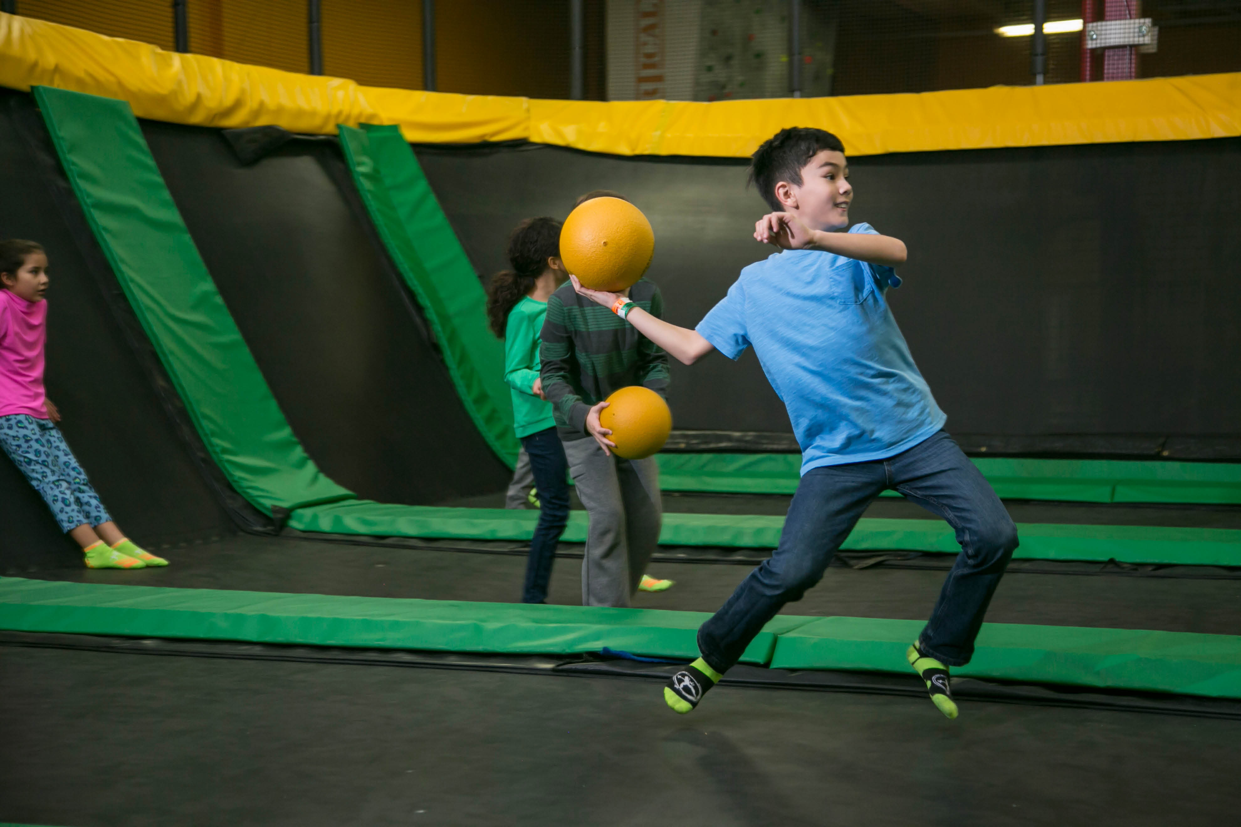 Family fun center and trampoline park with dodgeball in WAYNE, NJ NEXT TO WILLOWBROOK MALL