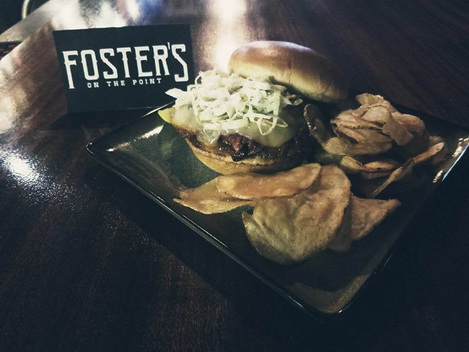 fosters on the point, hagerstown, dining, restaurant, sandwiches, seafood, alcohol, music, bands