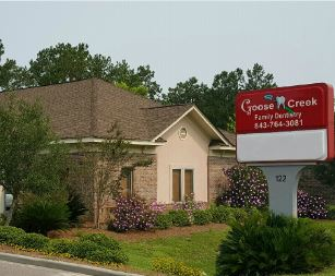 Goose Creek Family Denistry  exterior office near Ashley Forest