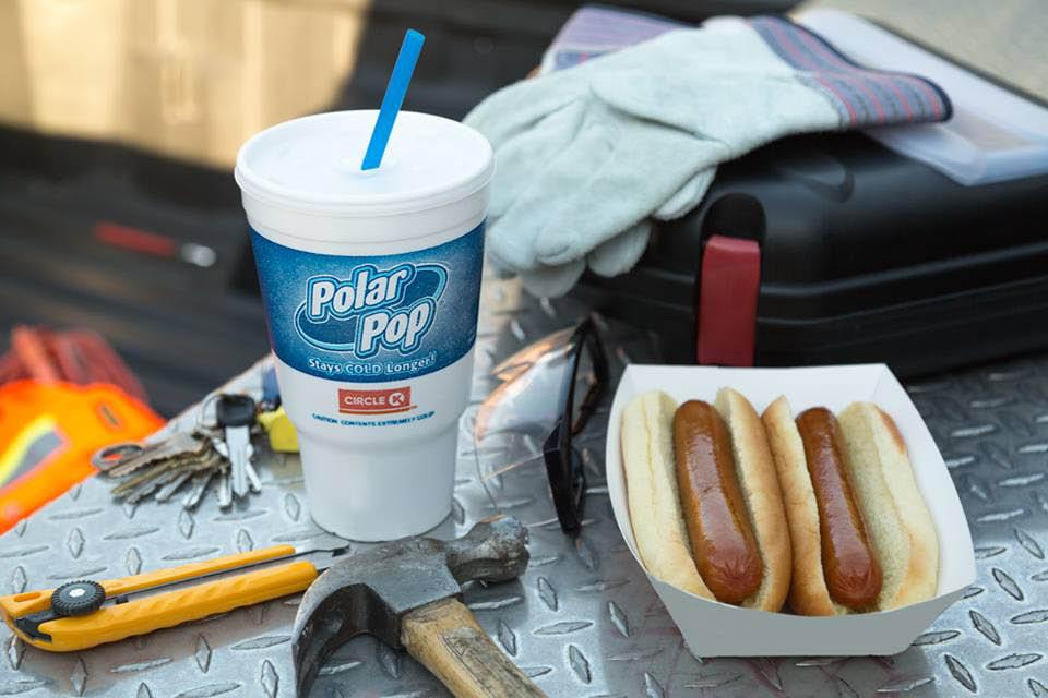 Circle K hot dogs and Polar Pop photo