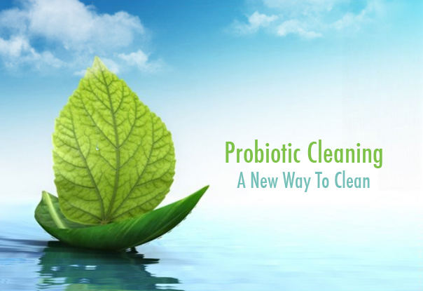 promo flyer for probiotic cleaning products used by Naked Clean in San Diego; maid service