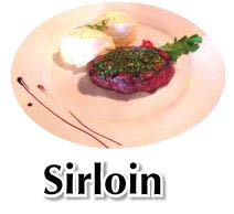 A local favorite, nicely seasoned sirloin steak