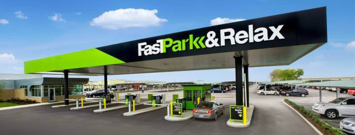 fastpark & relax airport parking facility main entrance houston texas
