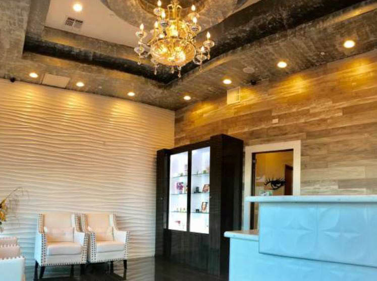 front desk at glam lash studio in Fort Worth TX