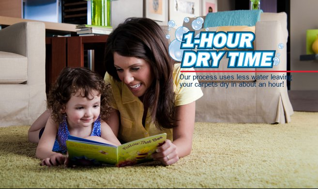 carpet cleaning services with quick drying times