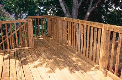 Wooden deck, general contractors