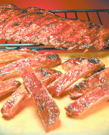 Great BBQ rib and chicken  dinners available at Nary's Grill & Pizza