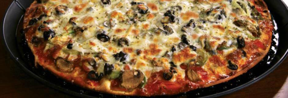 Delicious thin crust pizza pie from Rosati's Pizza in Buckhead