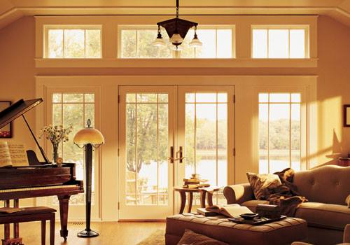French doors add elegance to your outdoor California living space