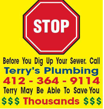 Before you dig up your Sewer Call Terry's Plumbing
