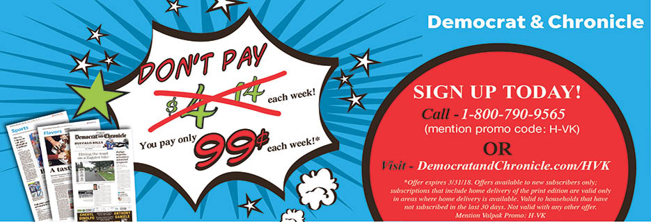 Sunday D&C only 99 cents a week for the first 52 weeks!