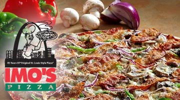 thin crust pizza at imo's