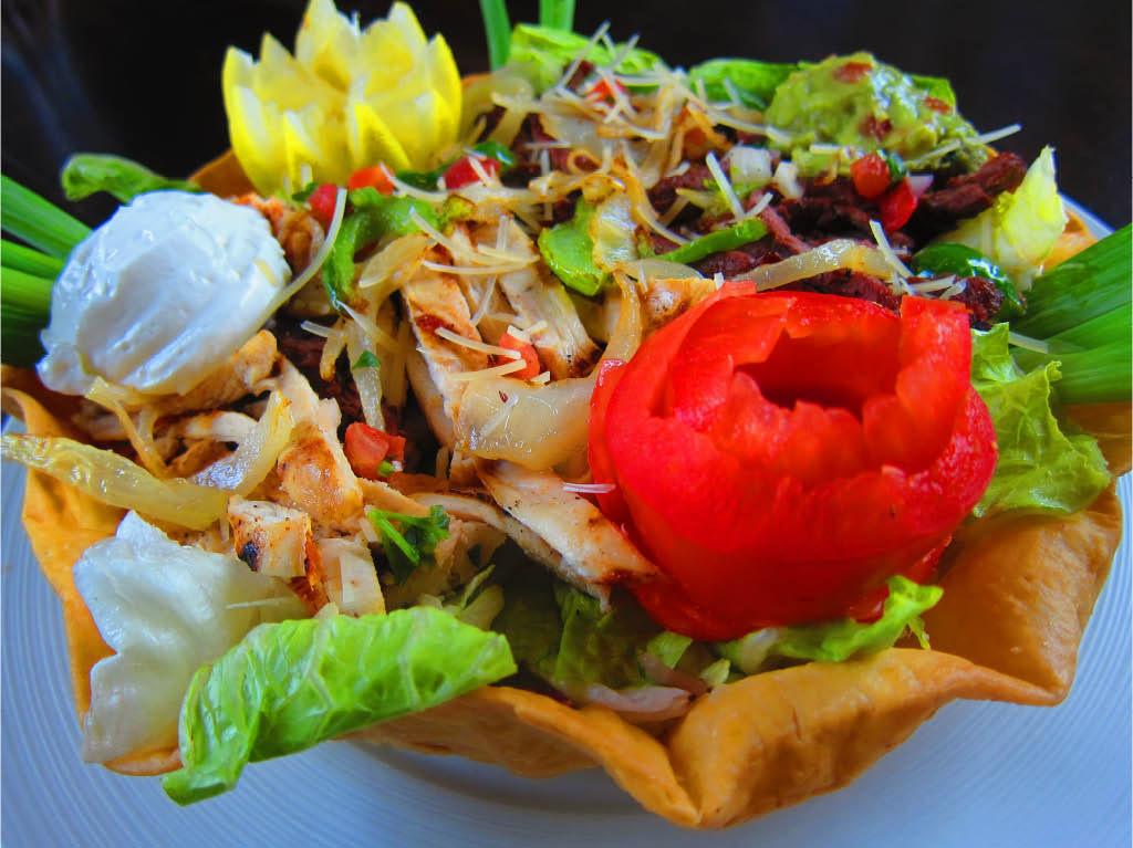 Taco Salad with Chicken, Beef or Shredded Beef