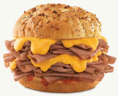 Arby's, roast beef, hanover, cookie, fries, turnover, brisket, smokehouse, cheddar, chicken, Reuben, bacon