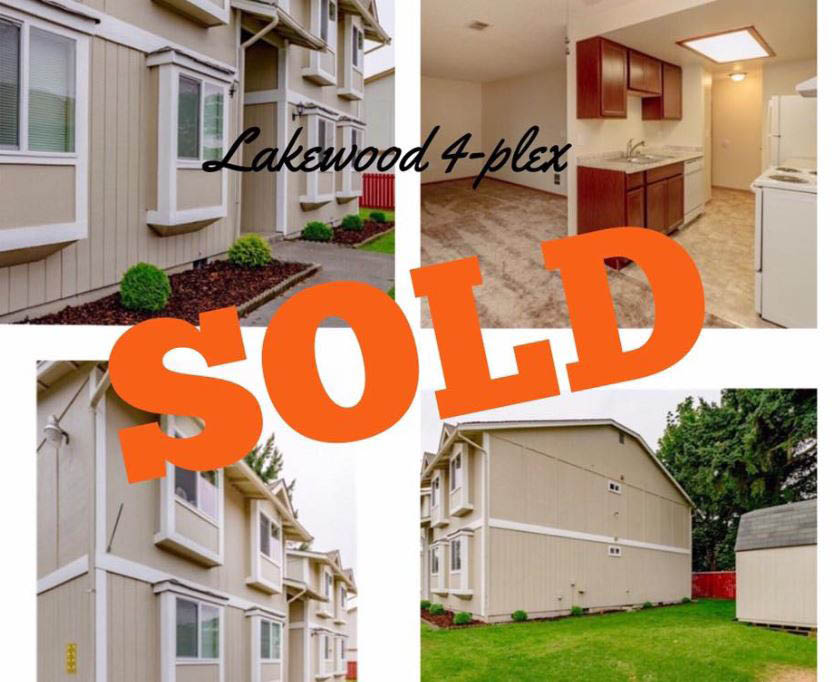 Lakewood 4-plex sold by Brittnee Dolphin with Better Properties North Proctor - Tacoma realtor - Tacoma, WA