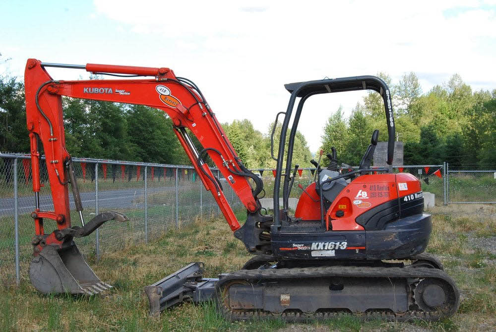 Backhoe from 410 Rentals in Buckley, Washington