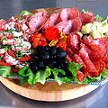 A plate of fresh salad; antipasto at Cousin Mario's
