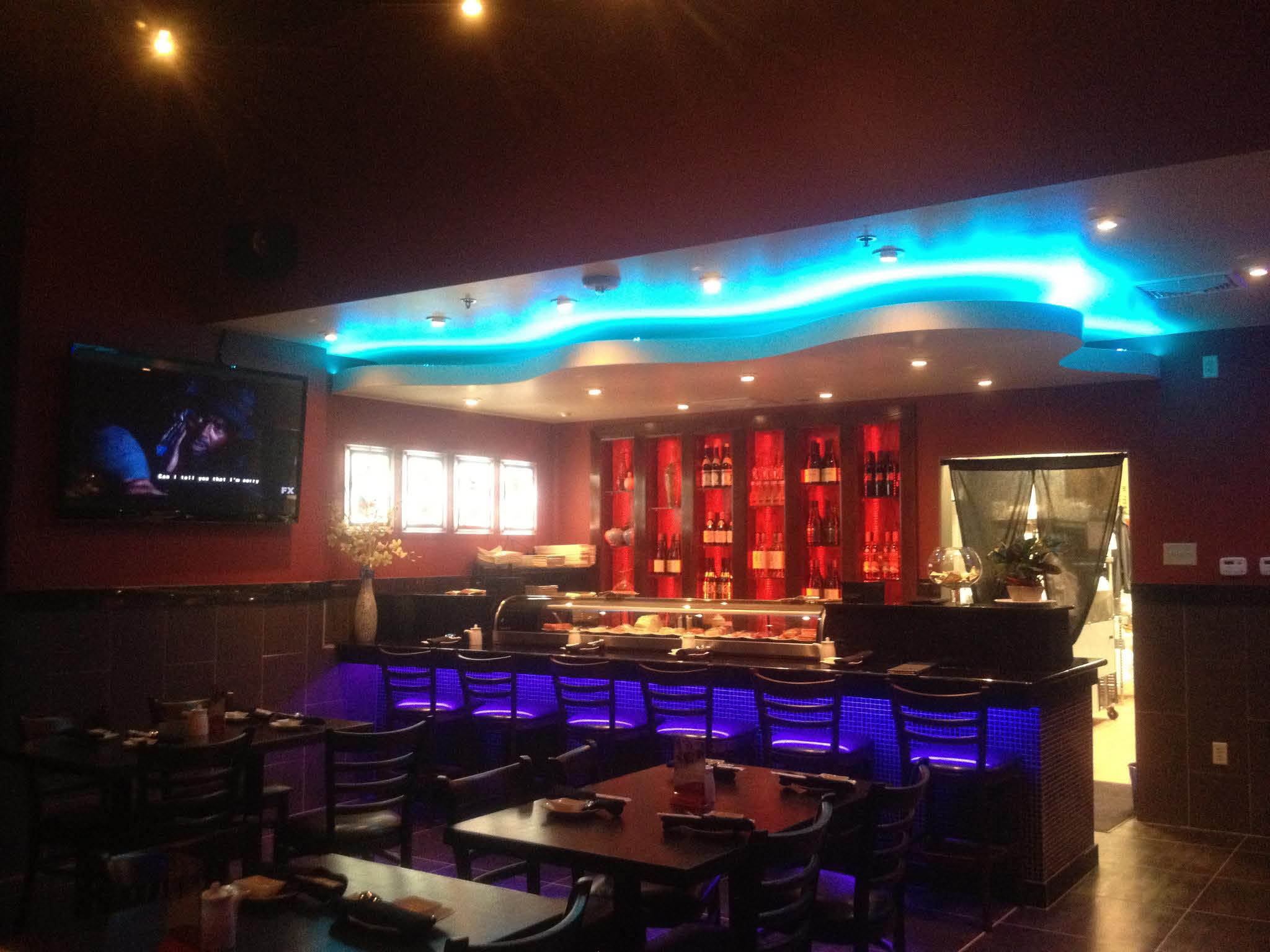 Hutong neon-lit modern interior - great for date night