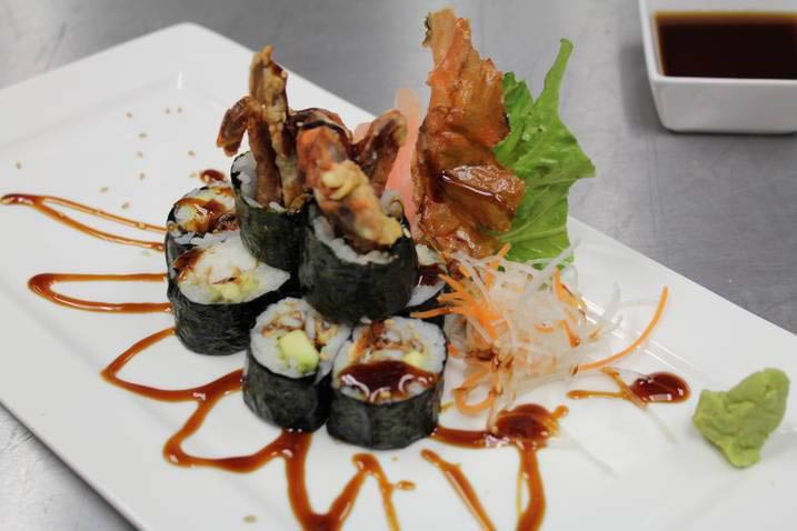 Beautifully plated sushi with the perfect seasonings and sauce