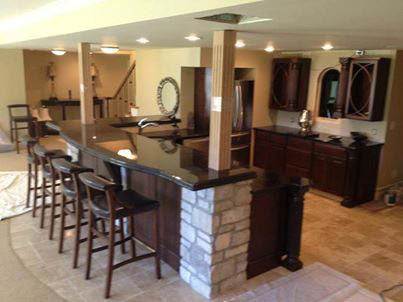 For a new island bar in your kitchen, we can install a premium-quality marble top